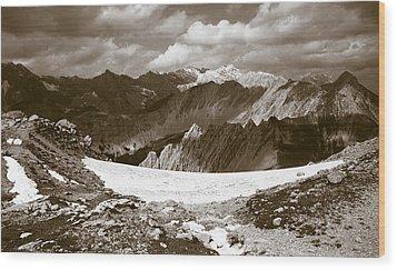 Alpine Landscape Wood Print by Frank Tschakert
