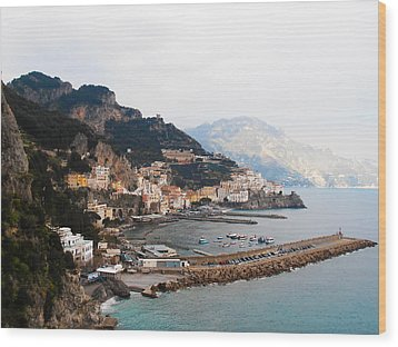 Amalfi Italy Wood Print by Pat Cannon