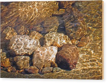 Amber Fantasy Wood Print by Lynda Lehmann