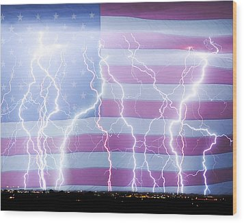 America The Powerful Wood Print by James BO  Insogna