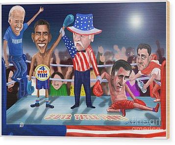 America Wins Wood Print by Fred Makubuya