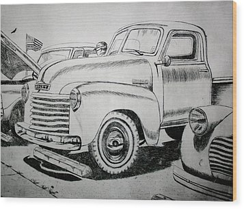 American Made Wood Print by Stacy C Bottoms