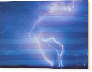 American Mother Nature's Fireworks  Wood Print by James BO  Insogna