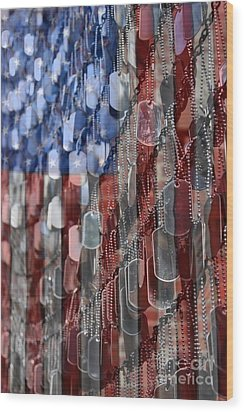 American Sacrifice Wood Print by DJ Florek