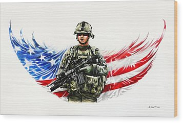 Americas Guardian Angel Wood Print by Andrew Read