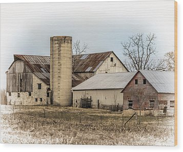 Amish Farm In Etheridge Tennessee Usa Wood Print by Kathy Clark