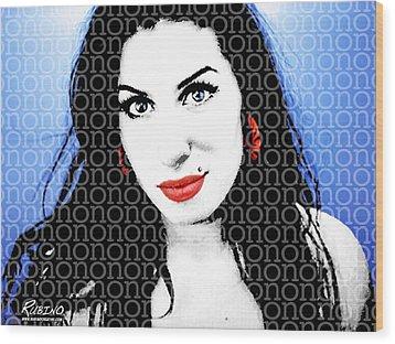 Amy Winehouse Wood Print by Tony Rubino