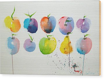 An Apple A Day Wood Print by Joe Prater