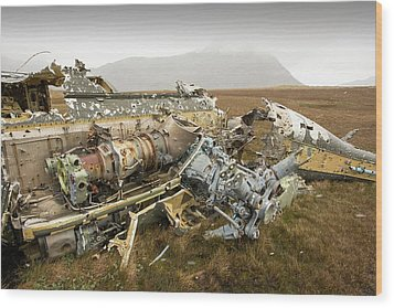 An Argentinian Puma Helicopter Wood Print by Ashley Cooper