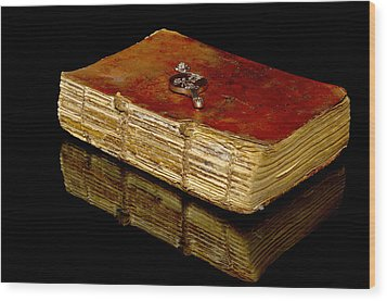 An Old Bible Wood Print by Toppart Sweden