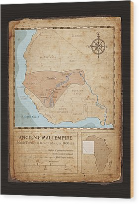 Ancient Mali Empire Wood Print by Dave Kobrenski