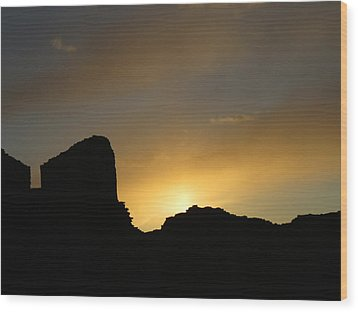 Ancient Walls Against The Sunset Wood Print by Feva  Fotos