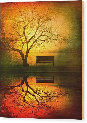 And I Will Wait For You Until The Sun Goes Down Wood Print by Tara Turner