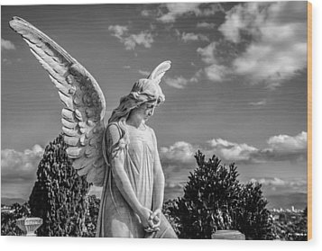 Angel At The Heredia General Cemetery Wood Print by Andres Leon