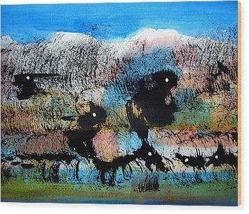Animal World 121005-3 Wood Print by Aquira Kusume