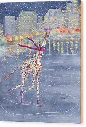 Annabelle On Ice Wood Print by Rhonda Leonard