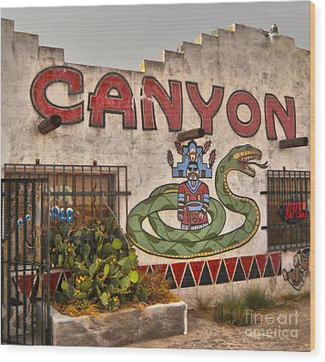 Apache Canyon Trading Post Wood Print by Gregory Dyer