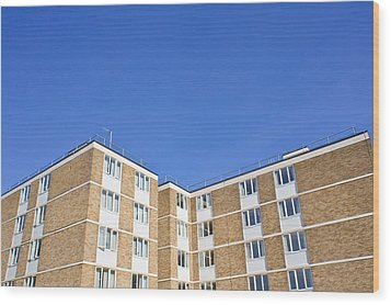 Apartments Wood Print by Tom Gowanlock