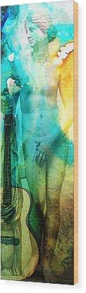 Aphrodite's First Love - Guitar Art By Sharon Cummings Wood Print by Sharon Cummings
