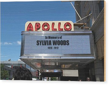 Apollo Theater Wood Print by Gail Starr