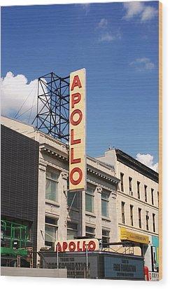 Apollo Theater Wood Print by Martin Jones