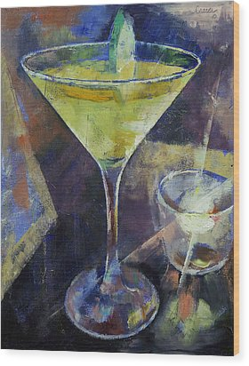 Appletini Wood Print by Michael Creese