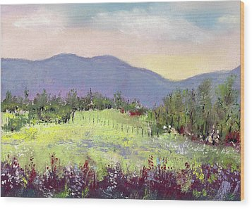 Approaching Home Wood Print by David Patterson