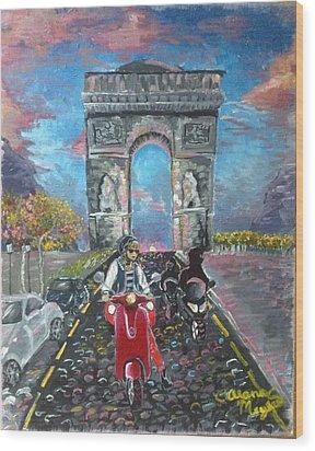 Arc De Triomphe Wood Print by Alana Meyers