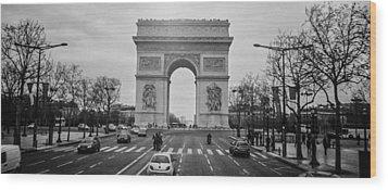 Arc De Triomphe Wood Print by Steven  Taylor