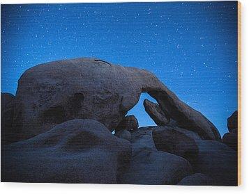 Arch Rock Starry Night 2 Wood Print by Stephen Stookey