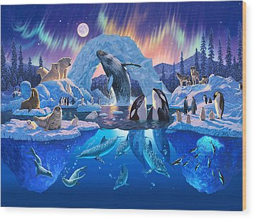 Arctic Harmony Wood Print by Chris Heitt