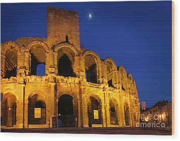 Arles Roman Arena Wood Print by Inge Johnsson