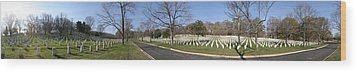 Arlington National Cemetery Panorama 2 Wood Print by Metro DC Photography