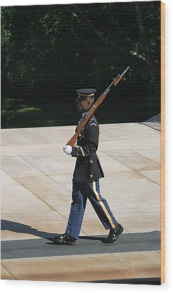 Arlington National Cemetery - Tomb Of The Unknown Soldier - 12124 Wood Print by DC Photographer
