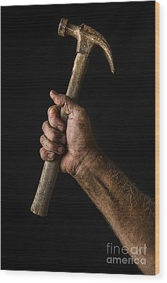 Arm And Hammer Wood Print by Diane Diederich