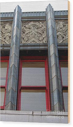 Art Deco Architectural Detail Wood Print by Gregory Dyer