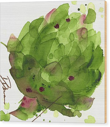 Artichoke II Wood Print by Dawn Derman