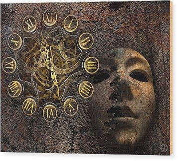 As Time Goes By Wood Print by Gun Legler