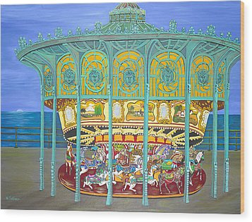 Asbury Park Yesteryear Wood Print by Norma Tolliver