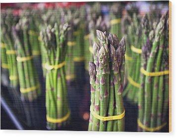 Asparagus Wood Print by Tanya Harrison