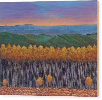 Aspen Perspective Wood Print by Johnathan Harris
