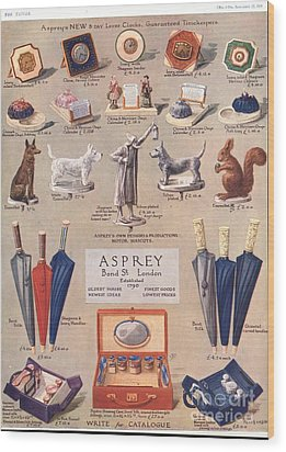 Asprey 1925 1920s Uk Asprey Gifts Wood Print by The Advertising Archives