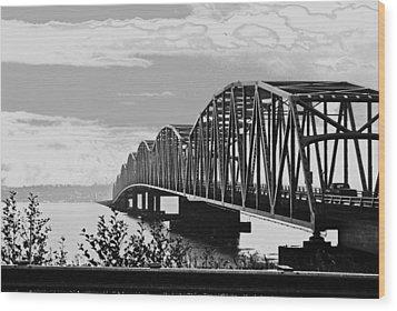 Astoria Bridge Wa. Side Wood Print by Rae Berge