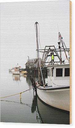 At Dock Wood Print by Karol Livote