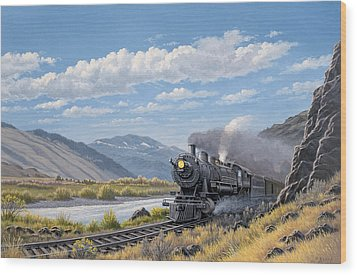 At Point Of Rocks- Bound For Livingston  Wood Print by Paul Krapf