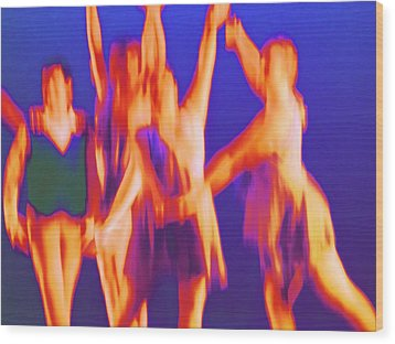 At The Ballet Wood Print by Randall Weidner