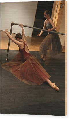 At The Barre Wood Print by Kate Purdy
