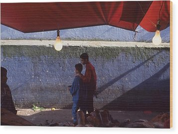 At The Fish Market Casablanca 1996 Wood Print by Rolf Ashby