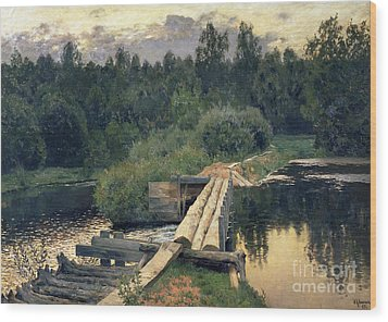 At The Shallow Wood Print by Isaak Ilyich Levitan