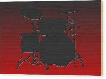 Atlanta Falcons Drum Set Wood Print by Joe Hamilton